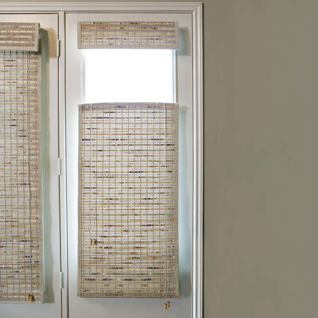 Beyond shutters alternatives to french door coverings the blinds spot for Alternatives to exterior shutters