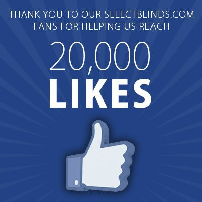 SelectBlinds.com 20,000 Likes on Facebook