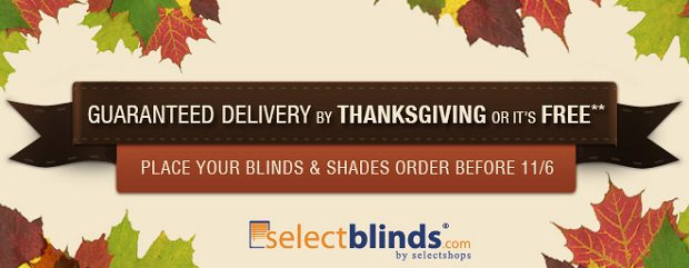 Guaranteed Blinds Delivery by Thanksgiving