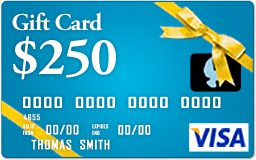 Happy Customers Can win 250.00 Visa Gift Card, find out how!