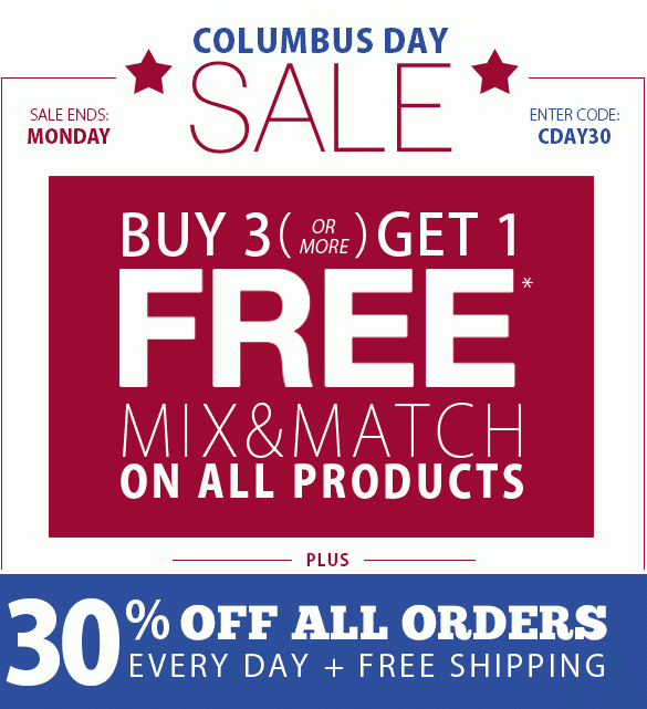 Columbus Day Sale 2014 Buy 3 Get 1 Free The Blinds Spot