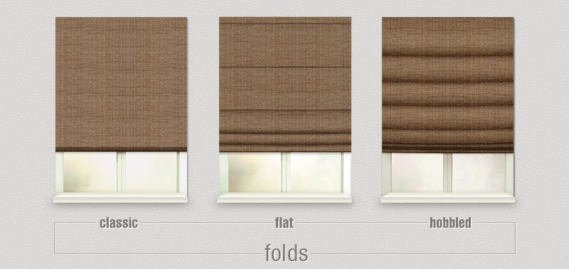 Roman Shades come with choices