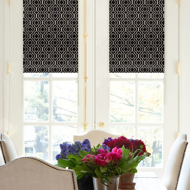 Roman shades on your doors!