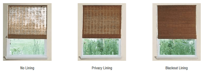 bamboo shades with privacy and blackout liners