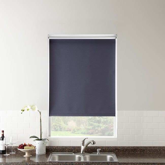 Classic fabric roller shades come in many color choices.