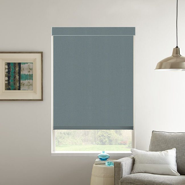 Roller shades come in a huge variety of colors and textures.