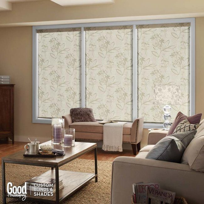 Roller shades come in many patterns and textures