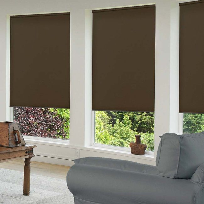 Roller shades are both modern and classic.