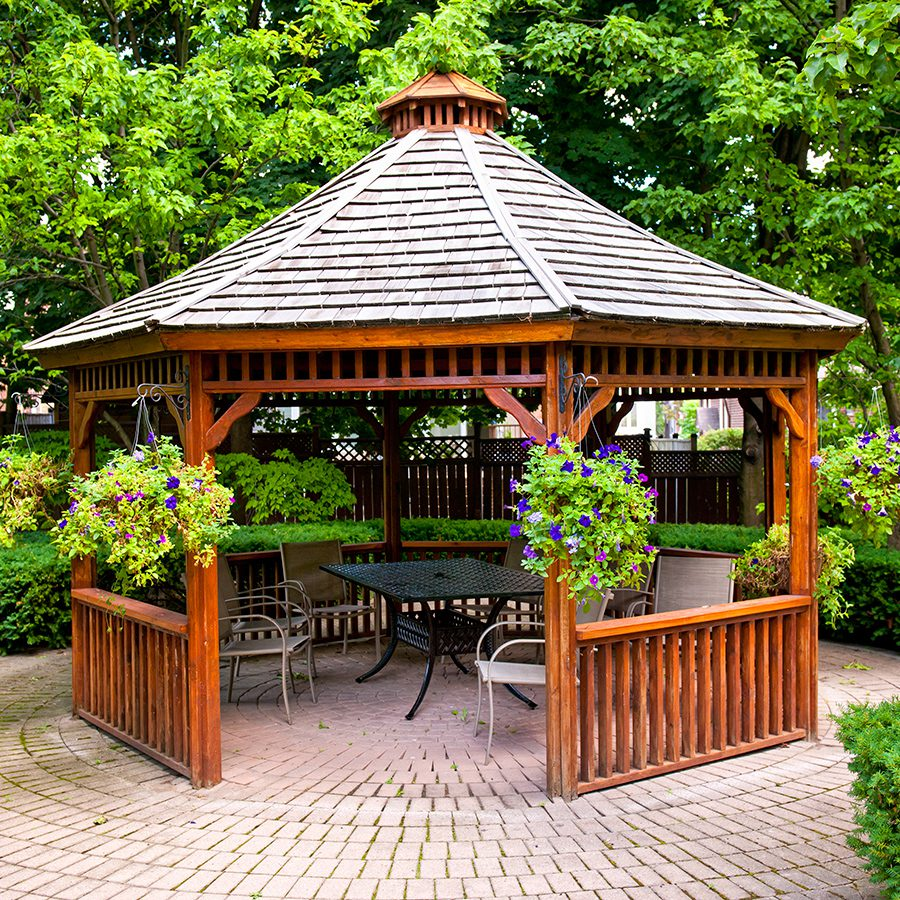 Adding outdoor solar shades will enhance your gazebo