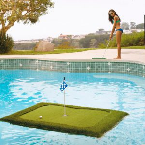Floating golf green.