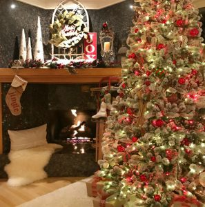 Holiday Fireplace Mantal featuring Cynthia Harper and Julie of The Design Twins