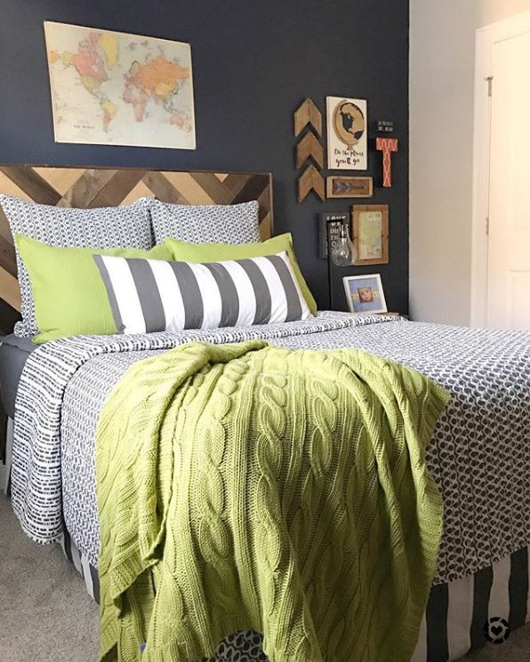 Herringbone Headboard by Alicia Armstrong from Our Vintage Nest