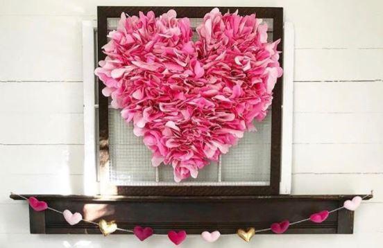 paper napkin heart