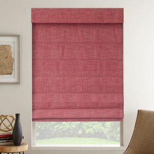 designer reserve light filtering roman shades in chili pepper