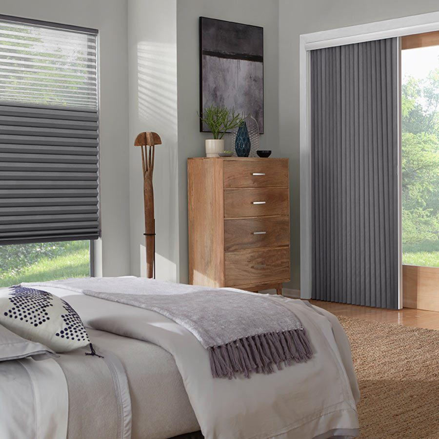 Blackout verticals paired with tri-shades will look great in any room.