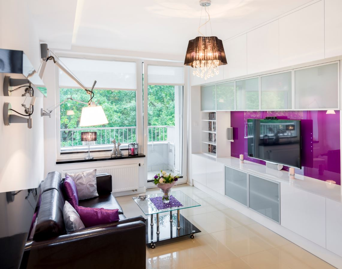 Roller shades are an option for doors.