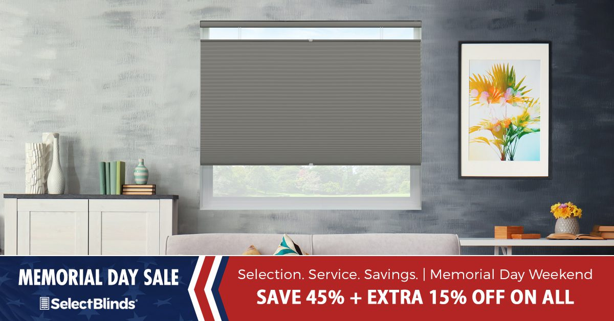 SelectBlinds.com Window Blinds and Shades Memorial Day Weekend Sale 2018