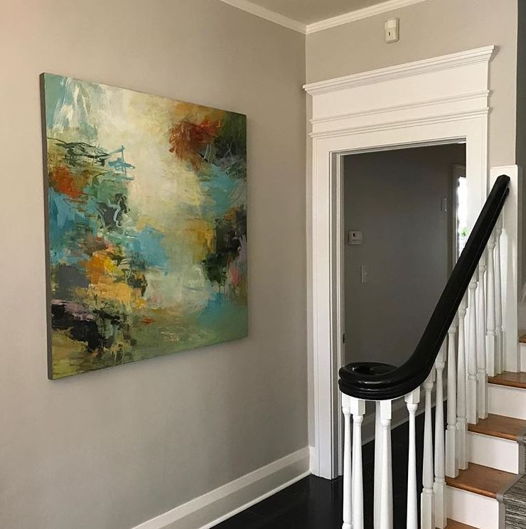Abstract painting by Audrey Phillips