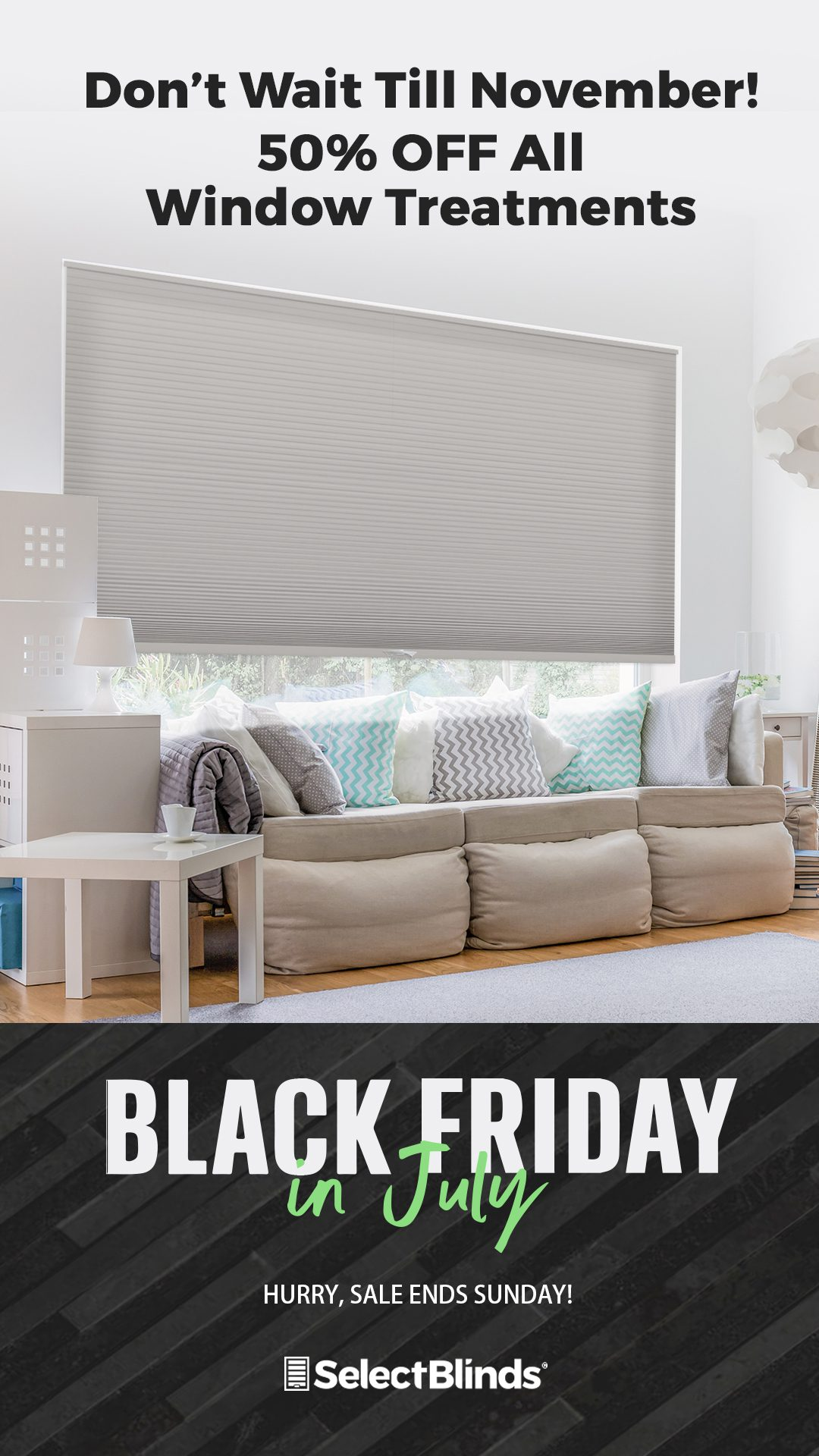 Online Black Friday Sale in July from Select Blinds