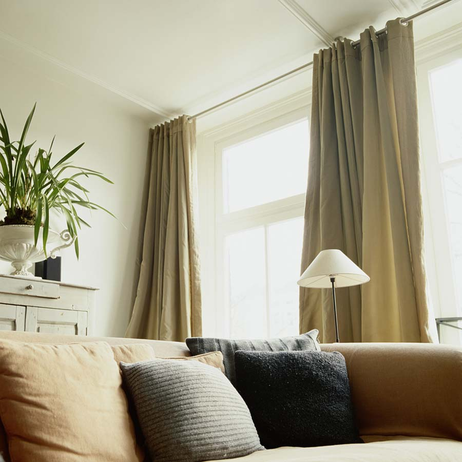 Grommet Drapes in Linen Weave Rich Ivory from SelectBlinds.com