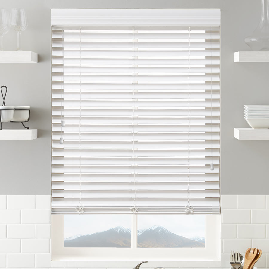 Signature 2 Inch Faux Woods in Porcelain from SelectBlinds.com