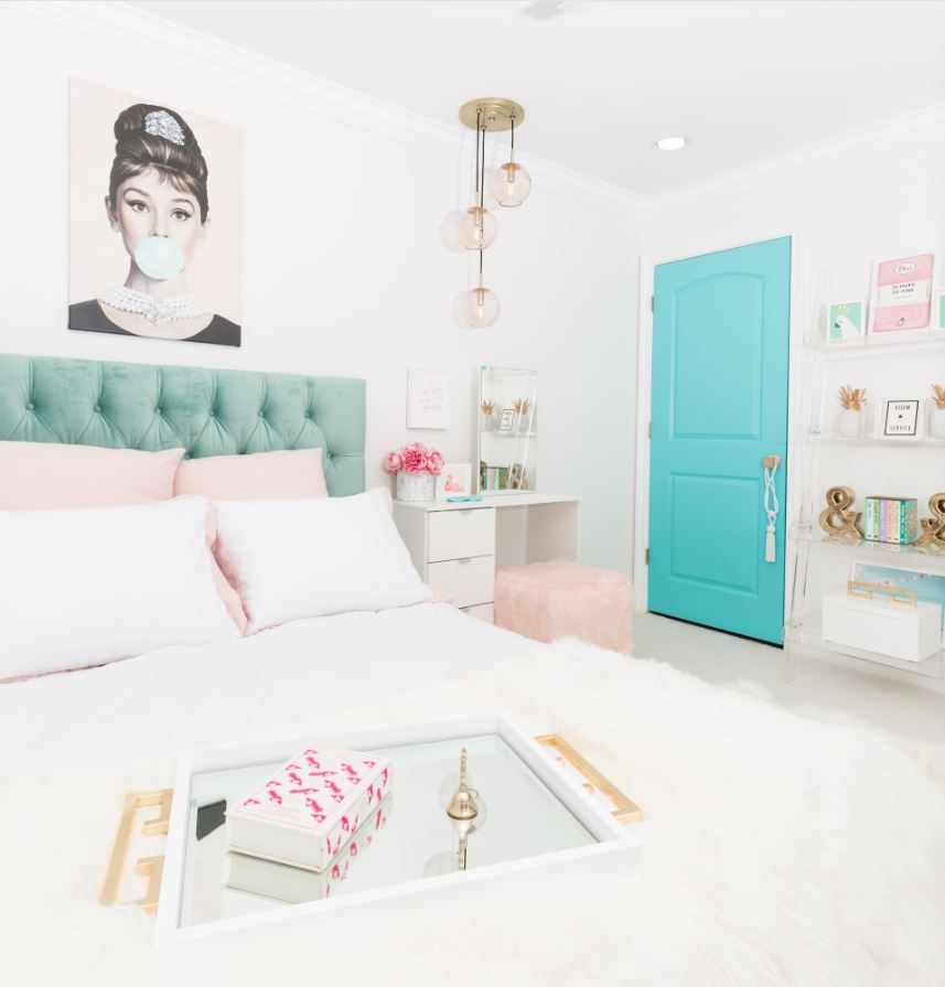 Audrey Hepburn girls bedroom decor | Photo Credit Fred Moser