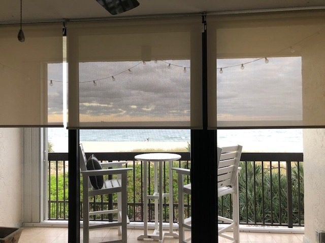 Select Blinds Sheerweave Interior Solar Shades by beach front property