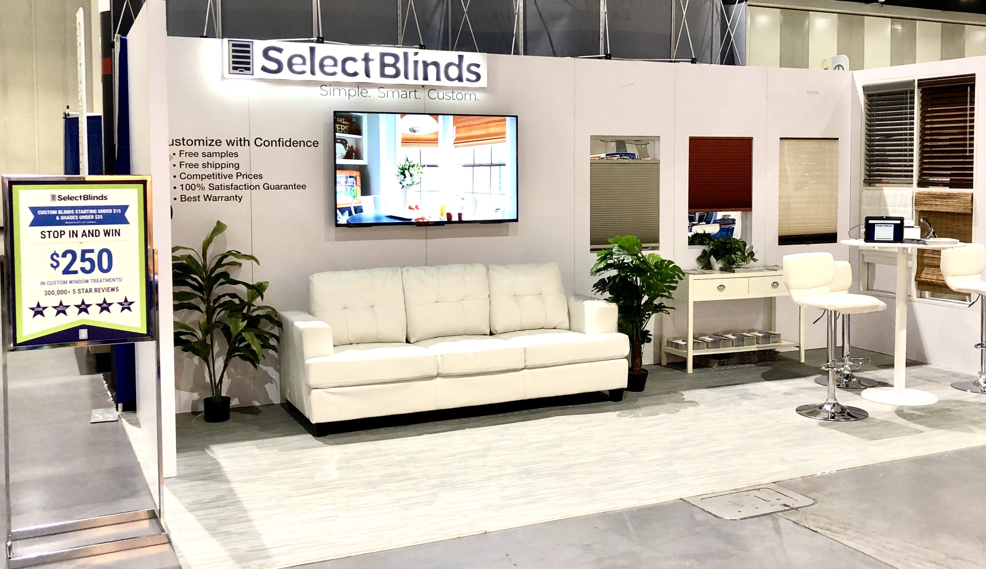 Select Blinds 2019 exhibit booth in San Diego, California