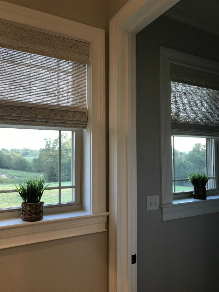 Designer Series Woven Wood Shades in a Happy Customers House - Denice L.