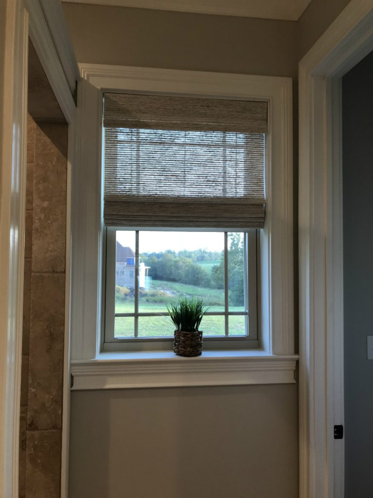 SelectBlinds.com Designer Series Woven Wood Shades in the home of Denice L.