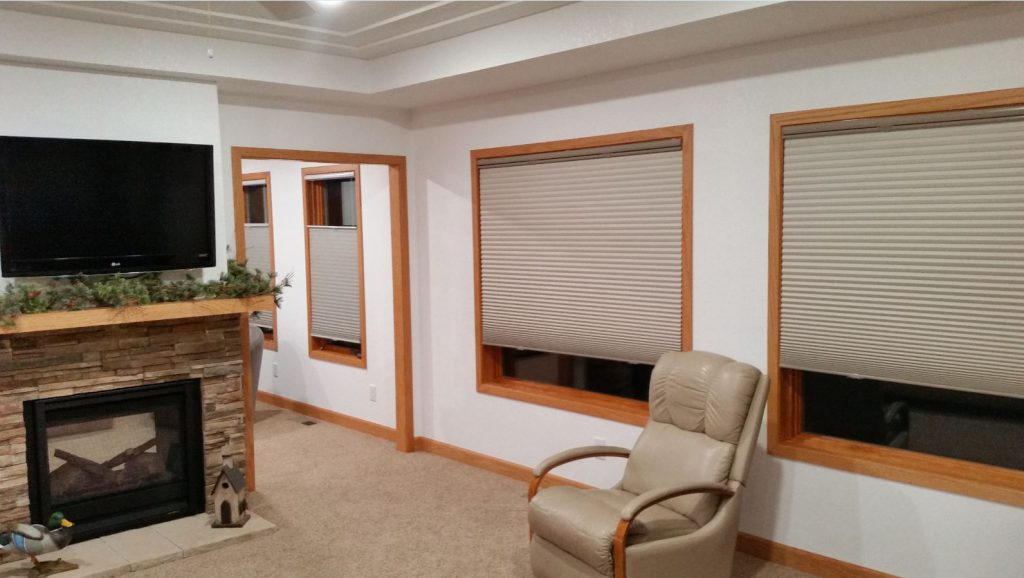 Top Down Bottom Up Cordless Shades from Select Blinds in Living Room