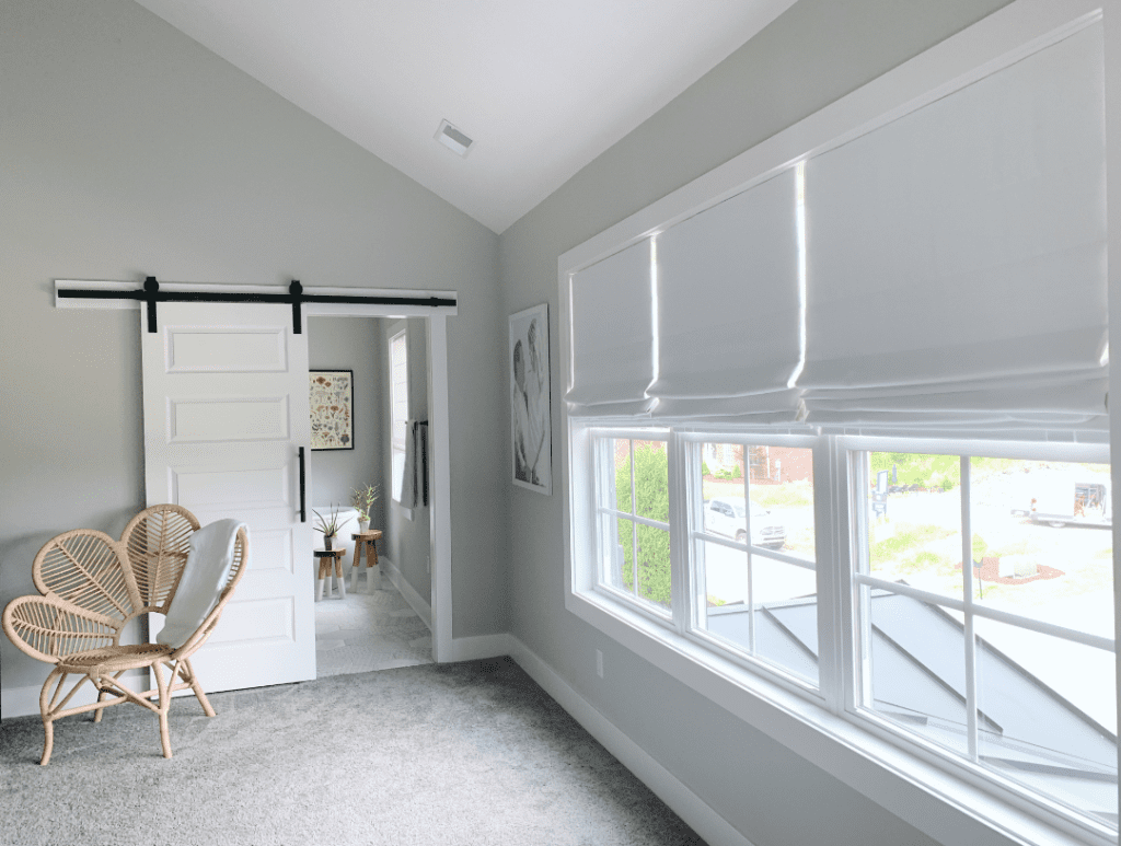 SelectBlinds.com's Roman Shades lend to the clean and sleek look!