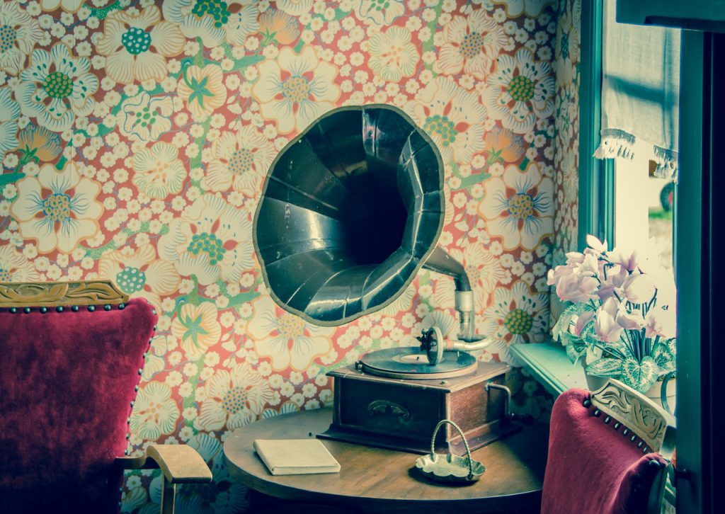 Put some color in your world with patterned wallpaper.
