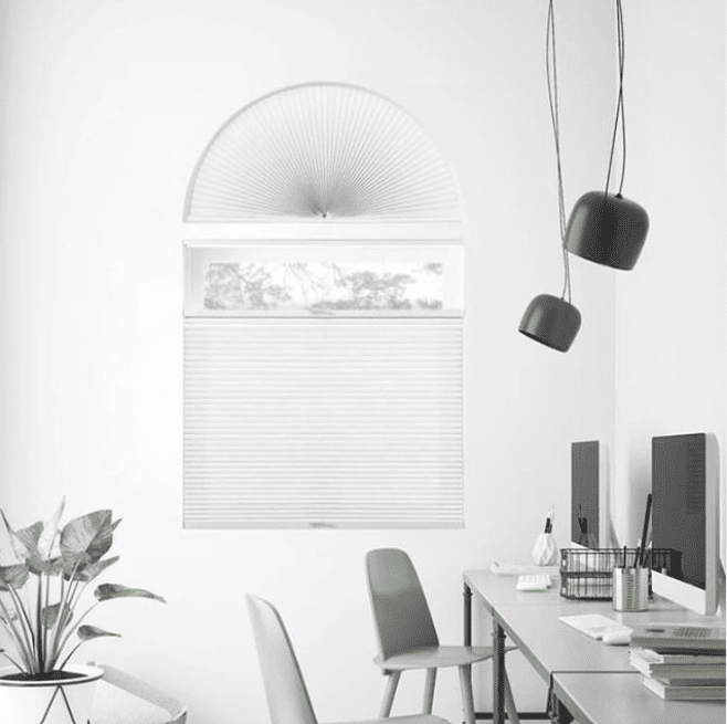Premier Single Cell Light Filtering arched window blinds