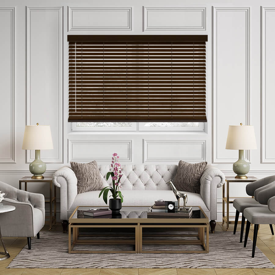Outside mount blinds helps reduce the halo effect.