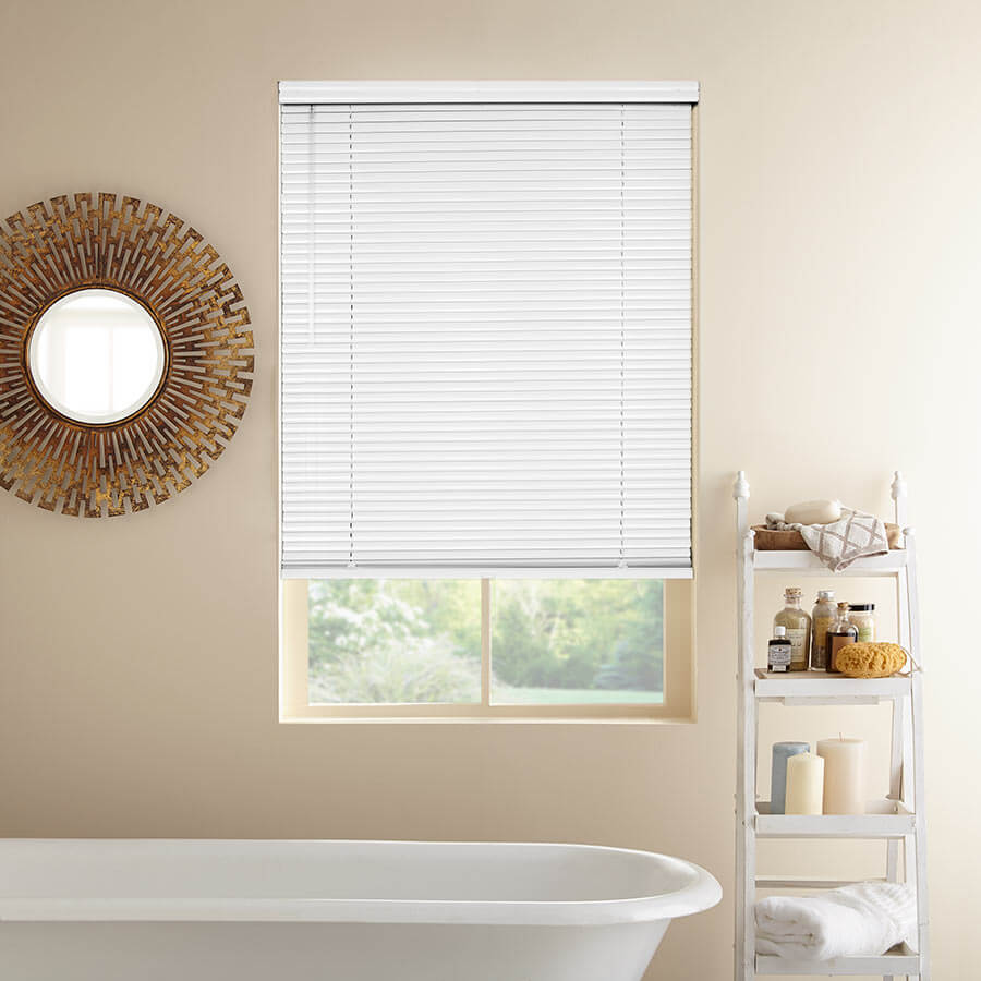 Add the perfect blinds to your bathroom window.