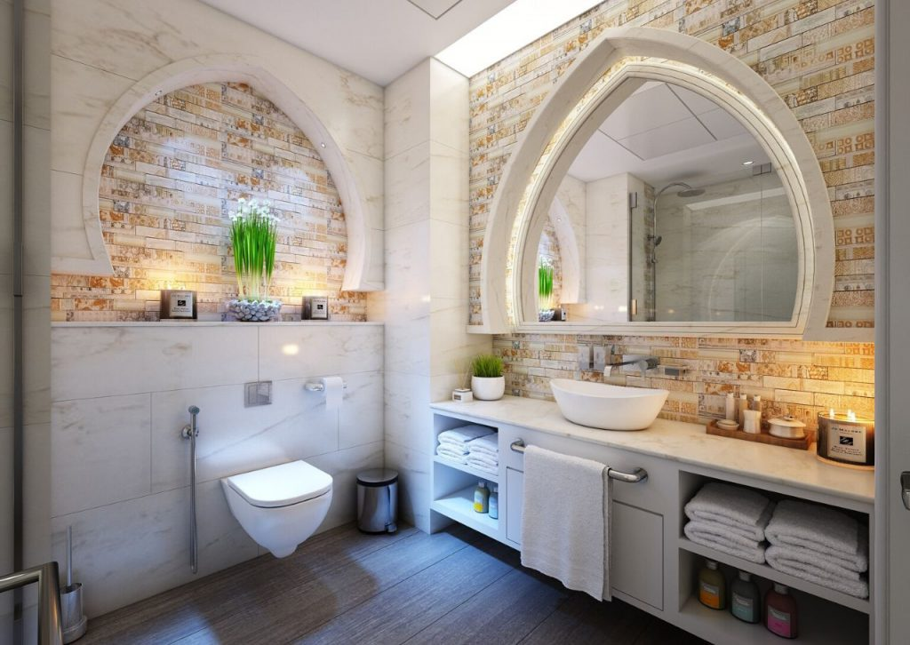 Declutter your bathroom to give it the ultimate spa-like look and feel.