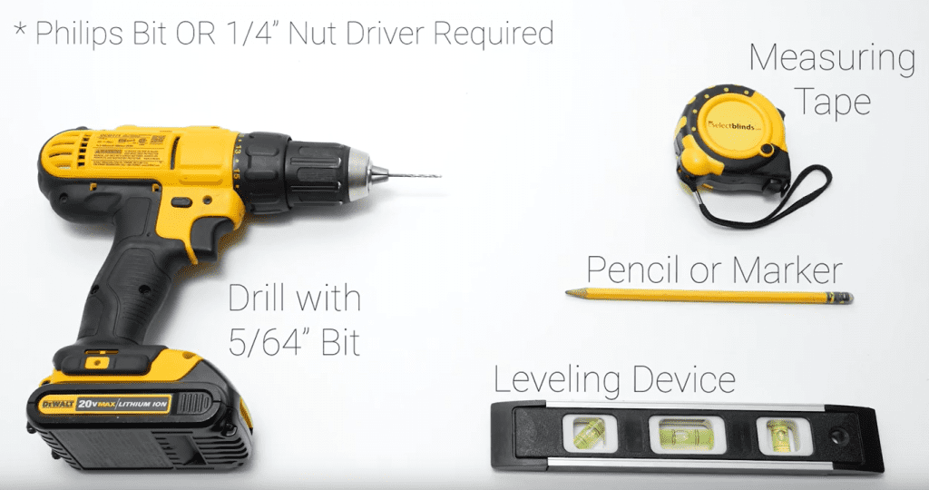 All you need is a drill, tape measure, pencil and level!