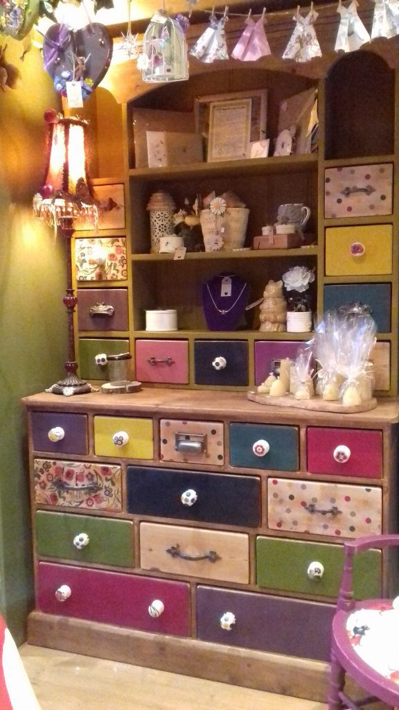 Wall papered and painted dressers are a great way to show off your style.