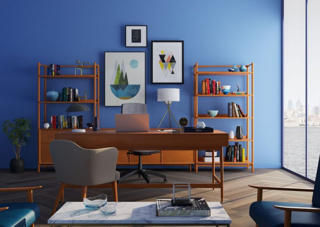 From the blue wall to the fun artwork and décor, this room perfectly exemplifies ikigai.
