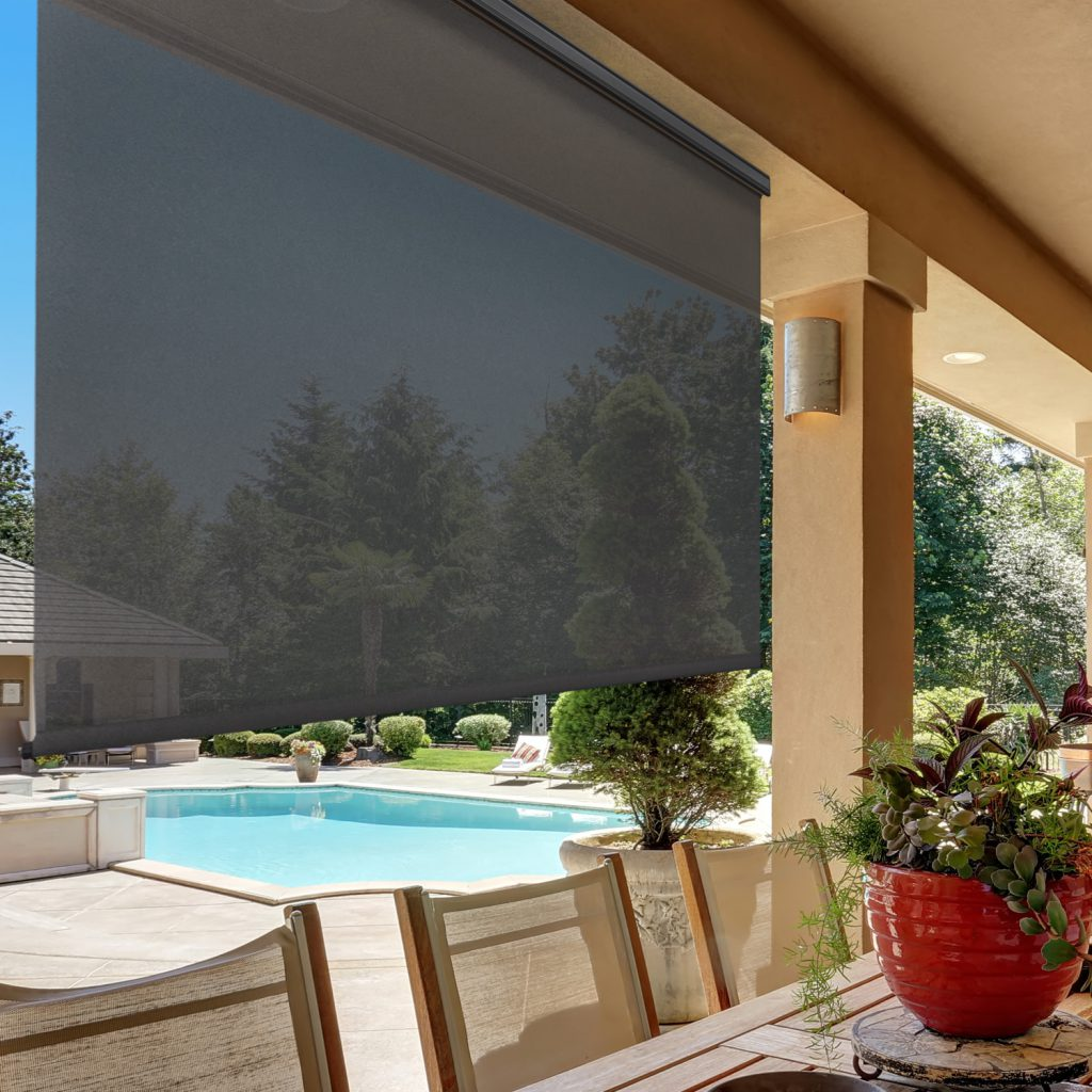 Exterior solar shades deflect sunlight without blocking your view, and keep your shaded areas cooler.