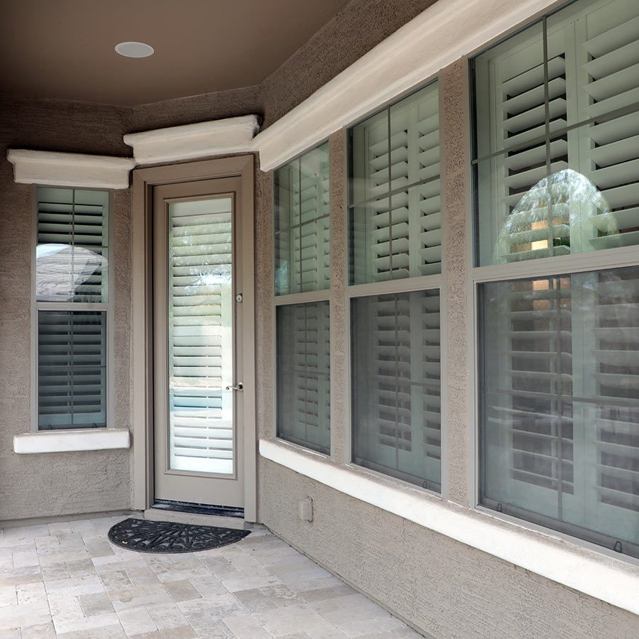 Shutters for your home offer privacy and light control.