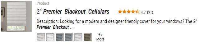 """Select Blinds 2"""" Premier Blackout Cellulars"""