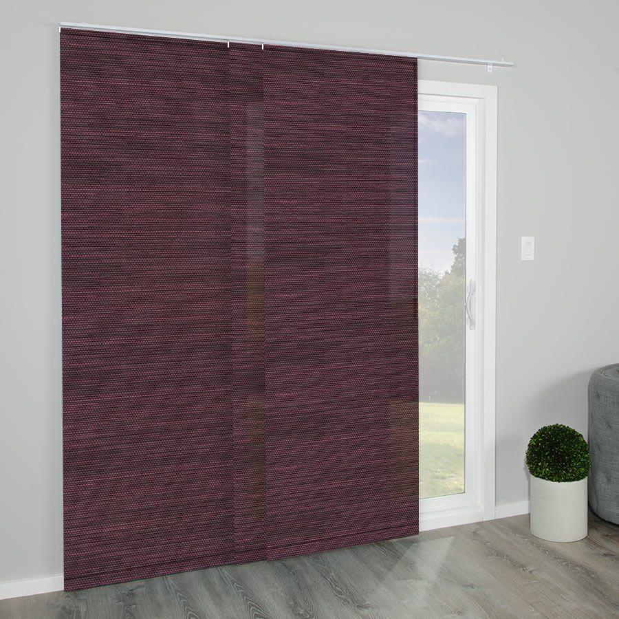 Panel tracks as minimalist window treatments