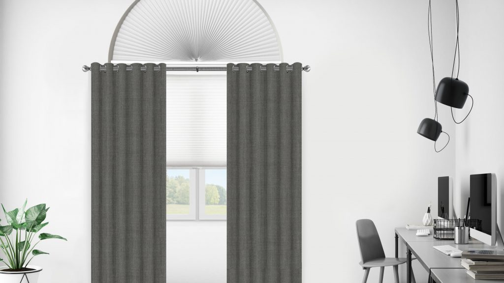 drapery as an effective arched window treatment