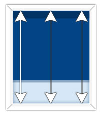 How to measure the height of a window for an inside mount blind.