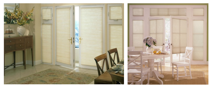 Cellular Shades Are Great For French Doors