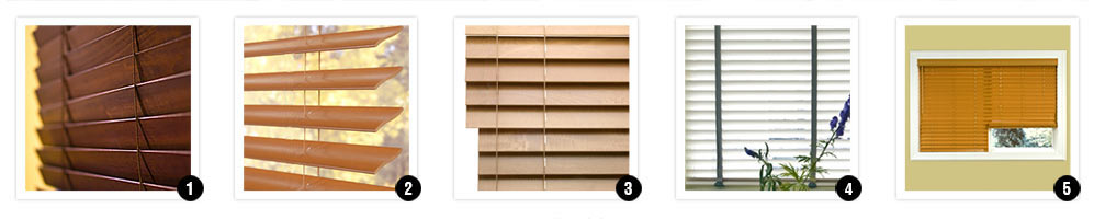options and addons for faux wood blinds