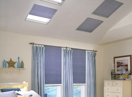 Custom made skylight window treatments from SelectBlinds.com