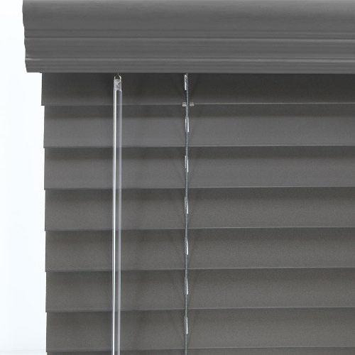 gray wood blinds dark walnut crown valance designer contemporary 2